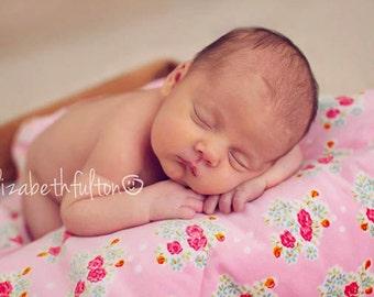 Garden Of Roses  -   Luxurious Baby Blanket - Velvet Cotton Fabric