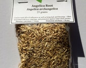 Angelica Root (Angelica archangelica) - Used for protection, purification, love, marriage, good luck and blessings.