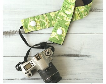 CLOSEOUT SALE - ruched camera strap cover - fresh