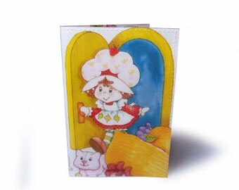 Passport Cover - Vintage Strawberry Shortcake Book Page in Vinyl