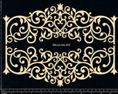 Dusty Attic Chipboard  - Large Ironwork Banner - DA0890