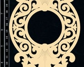 Dusty Attic Chipboard  - Large Elegant Flourish DA0877