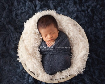 Leighton Heritage - Soft, Cozy, Cuddly Faux Fur Nest - Perfect Newborn Photography Prop - Neutral Posing Organic Feel Layering Blanket