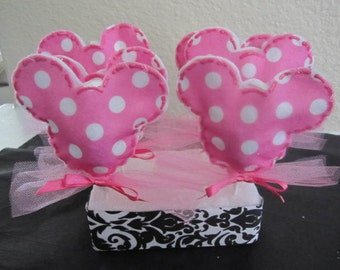 Set of 12 POLKA DOT Minnie Mouse LOLLIPOP Favors