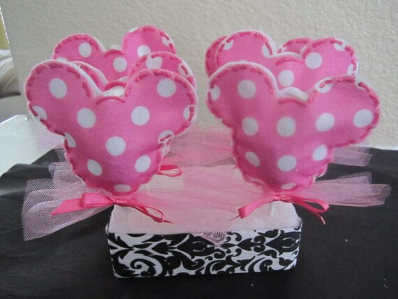 Set of 12 POLKA DOT Minnie Mouse LOLLIPOP Favors