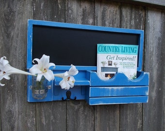 Chalk Board Message Center--Letter Holder--Mail Organizer--Letter Holder--Message Board