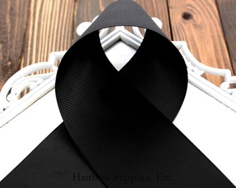 Black Grosgrain 3 inch Ribbon - Choose from 1-20 yards - Perfect for Cheerleading Hair Bows