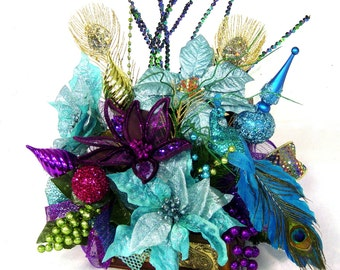 Popular Items For Peacock Arrangements On Etsy