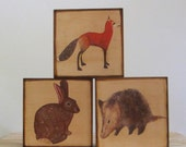 Wall Decor l Art Block Trio 5x5 Mix and Match You CHOOSE any 3 designs woodland art forest art nature