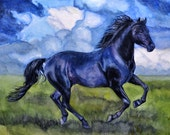 Custom Painted Portrait of your Horse - Original Watercolor Painted by Julia Raven, size 12x16 inches