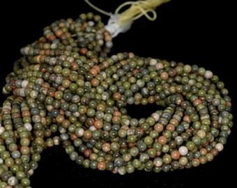 """3mm Ryolite Round beads full strand 16"""" Loose Beads P142725"""