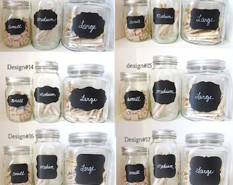 75 SMALL Chalkboard Labels any design
