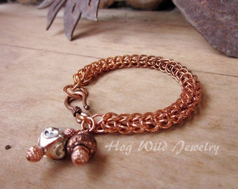 Foxtail Copper Chainmaille Bracelet