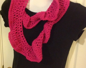 Hot pink Long infinity scarf potato chip scarf cowl