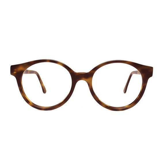brown tortoise matte vintage eyeglasses by