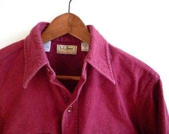 Vintage L.L. Bean Chamois Cloth Shirt Men's 15 1/2 USA