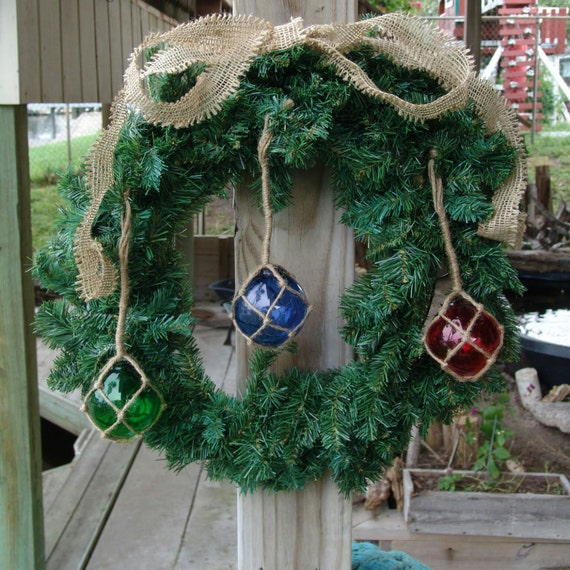 Clearance sale nautical fishing float holiday ornaments for Christmas ornament sale clearance