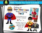 Superhero Birthday Invitation / Superhero Party Invite / Superhero Birthday / Superhero Party / Superhero Invitation
