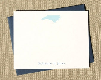 Custom State Map Stationery / Personalized Stationary Note Card Set / Moving Gift