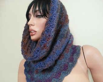 Tunel crochet scarf
