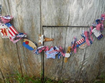 Summer Independence Day Garland, Made To Order