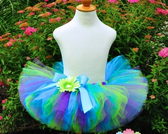 Turquoise Purple Lime Tropical Birthday Tutu...Mermaid Tutu...Newborn to Adult Tutu Sizes. . . SIREN