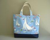 Beach Bag. Nautical Tote Bag. Weekender Bag. Large Beach Bag. Travel Bag. Market Tote. Diaper Bag. Ready To Ship.