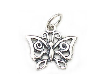 Butterfly Charm Sterling Silver 15mm