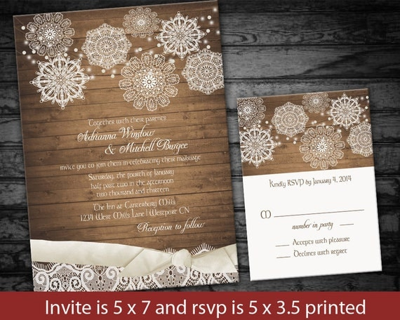 Rustic Winter Wedding Invitations: 301 Moved Permanently
