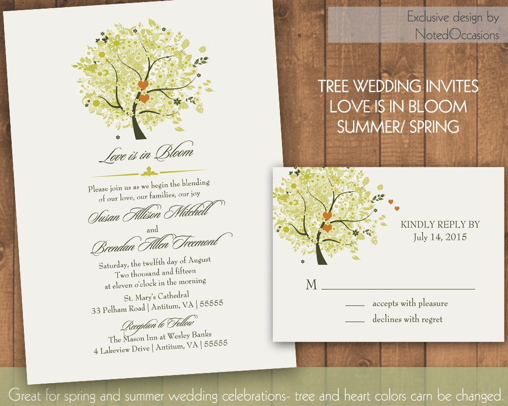 rustic oak tree wedding invitation - 28 images - vintage rustic ...