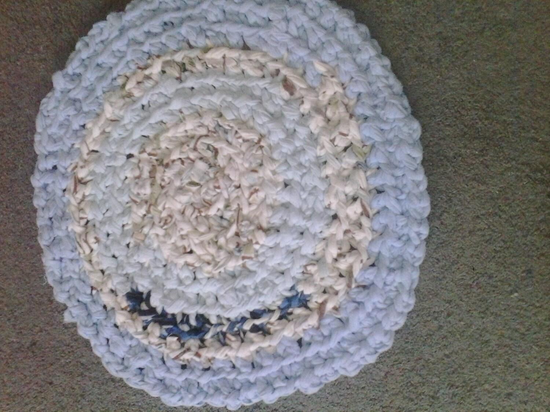 circular cotton rag rug