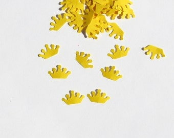 Crown Confetti Royalty Yellow 600 Pieces