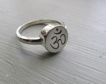 Ohm ring Ohm jewelry symbol jewelry logo jewelry Aum ring Yoga ring