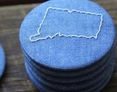 Connecticut - Recycled Fabric Magnet