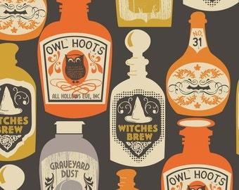 Halloween Witches Brew Fabric Halloween Potion Bottles Maude Asbury Blend Fabrics One Yard