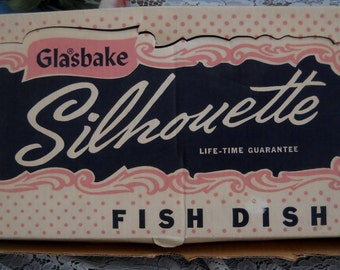 Silhouette in Glasbake - Fish Dish - Never Used