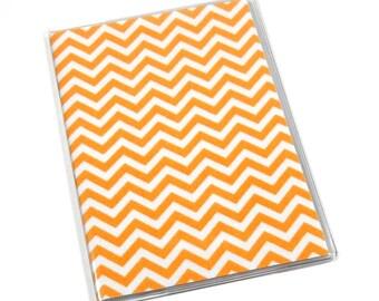 SALE Passport Cover Orange Chevron