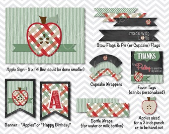 apple picking printable party