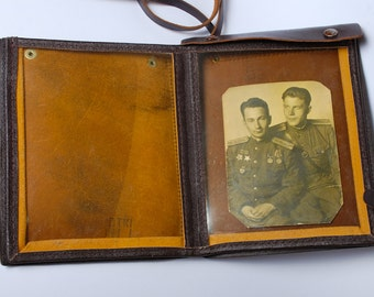 Vintage Russian soviet army officer uniform bag, map bag  from Soviet Union, USSR