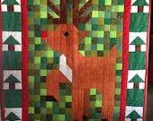 Handmade Rudolph Crib Quilt