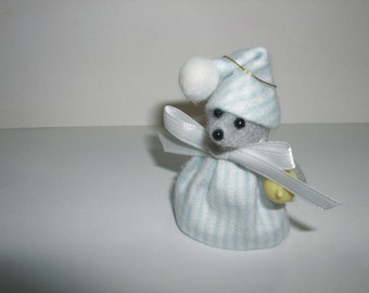 Free Shipping )  ( It's a Boy ) a handmade Mouse Ornaments that makes a Great Shower Favor By Terrys Country Shop ( 172 )
