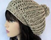 Crochet slouchy hat pattern, crochet slouchy  beanie pattern, Manhattan Slouchy  Beanie Hat Pattern