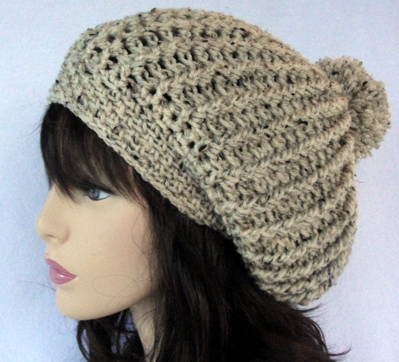 Crochet Hat Patterns Beanie : Crochet slouchy hat pattern crochet slouchy beanie pattern