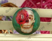 10mm,12mm,14mm,16mm,18mm,20mm,25mm,30mm Round Glass Cabochons Skull,jewelry Cabochons finding beads,Glass Cabochons,skull Cabochons--04