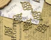 30PCS Of 18x26MM  Antique Bronze Connector Chinese knot,metal finding,pendant beads,two holes Charms