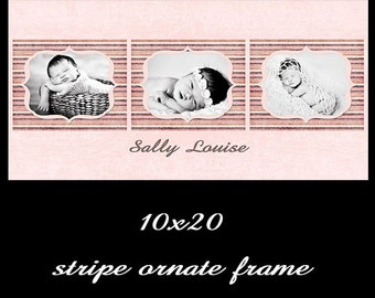 10x20 newborn template storyboard photographer psd  collage template storyboard INSTANT DOWNLOAD pink elements or cs