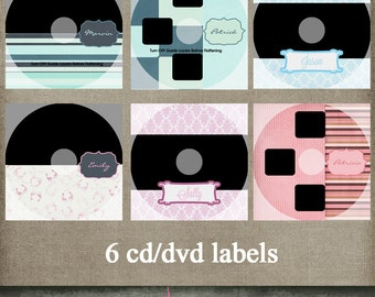 CD DVD templates labels for photographers CS or Elements 6 different ones ~instant download~