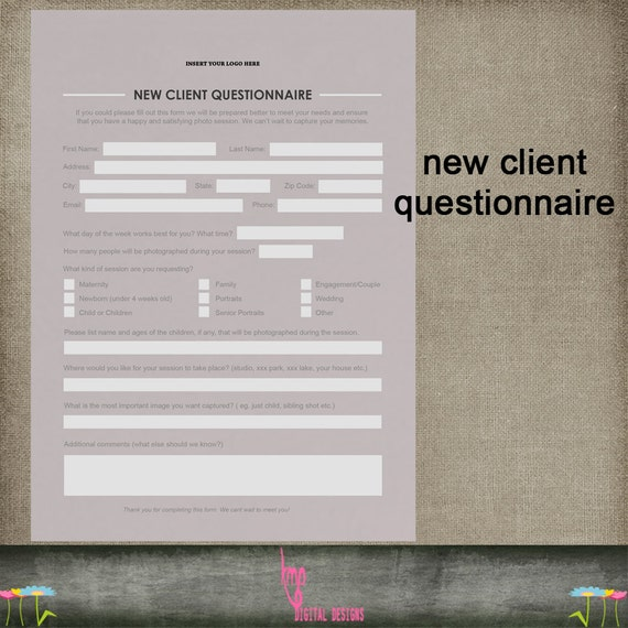New client customer questionnaire psd by kmpdigitaldesigns for New customer questionnaire template