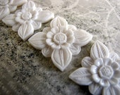 Abadi Carved Bone Balinese Architectural Flower Cabochon