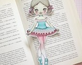 Alina the Ballerina Tutu - bookmark - made to order